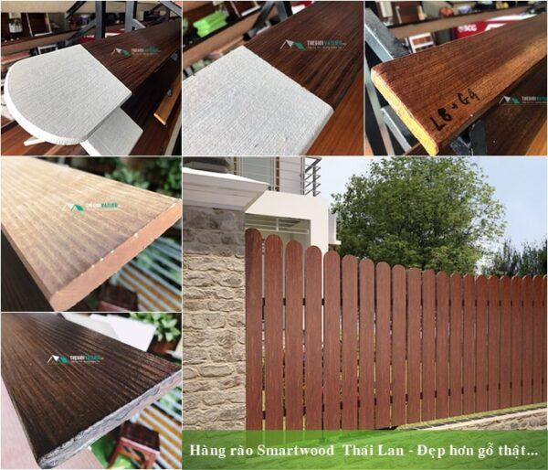 Quy cách cổng rào gỗ Smartwood