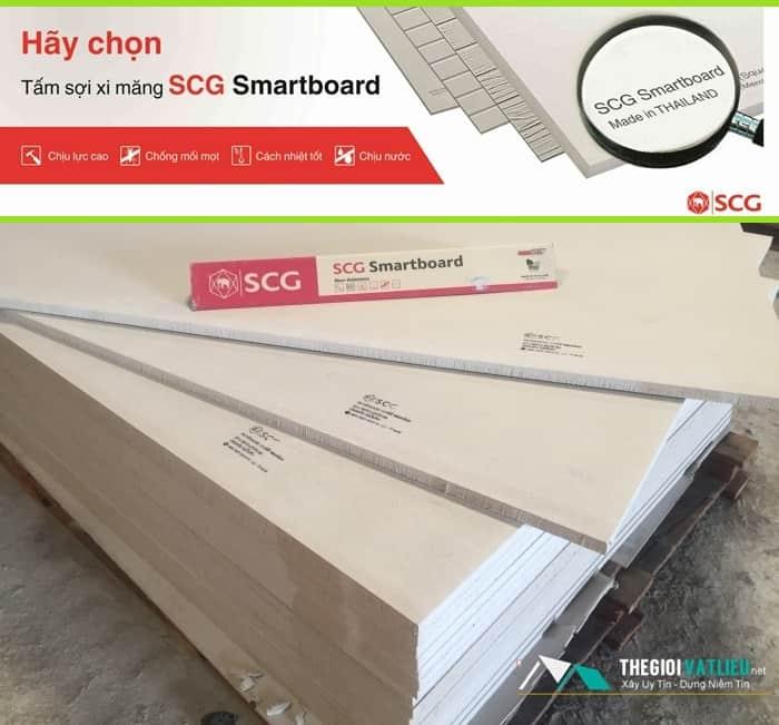 Giá tấm cemboard scg smartboard thái lan