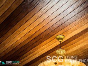 Vật liệu gỗ ốp trần nhà