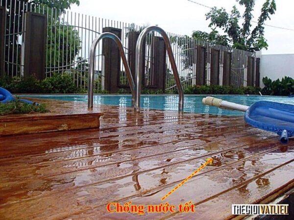 Sàn gỗ hồ bơi Smartwood