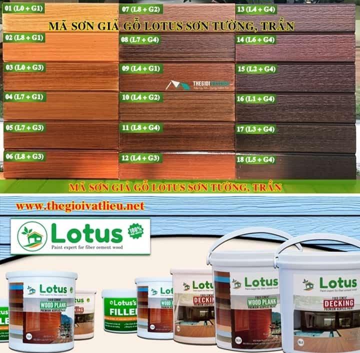 sơn giả gỗ lotus