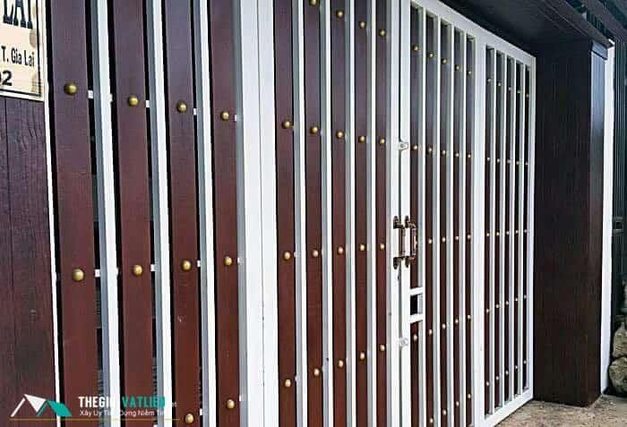 thiết kế hàng rào gỗ