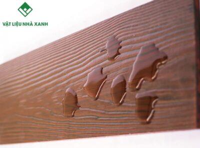 xi măng giả gỗ ốp tường