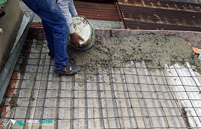 đổ sàn bê tông cốt thép