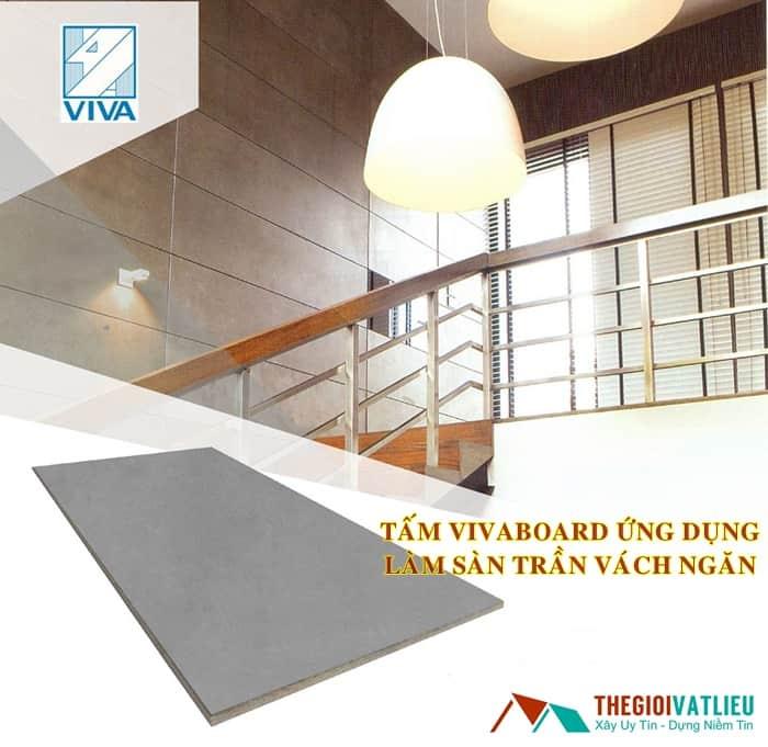 tấm vivaboard làm sàn trần vách ngăn