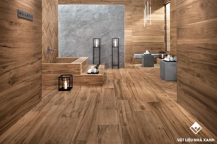 mẫu gạch prime giả gỗ ốp tường