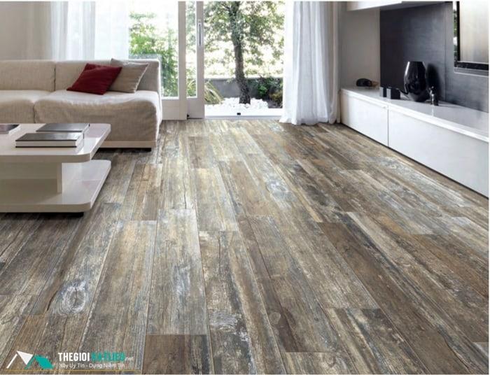 gạch lát nền giả gỗ
