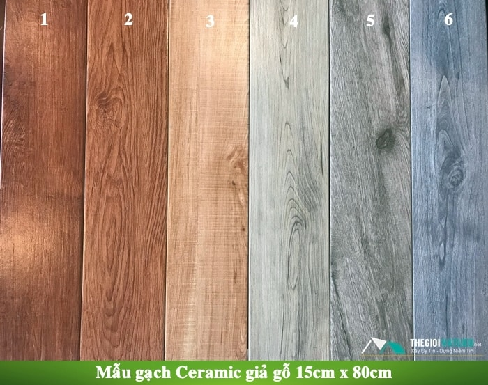 giá gạch giả gỗ ốp tường
