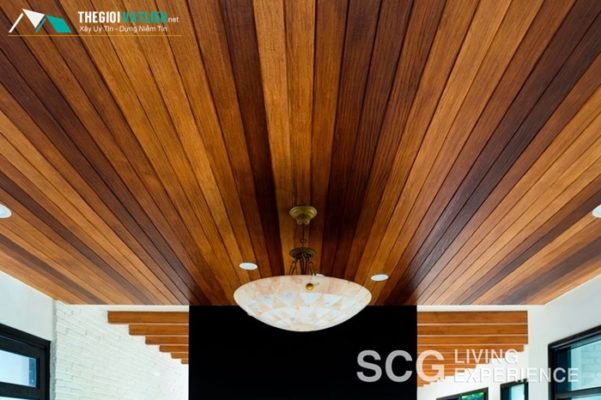 giá gỗ ốp trần