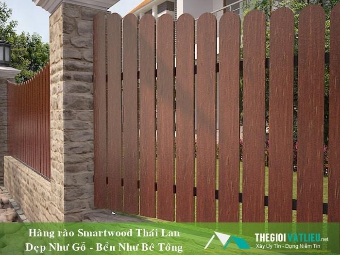 giá hàng rào gỗ