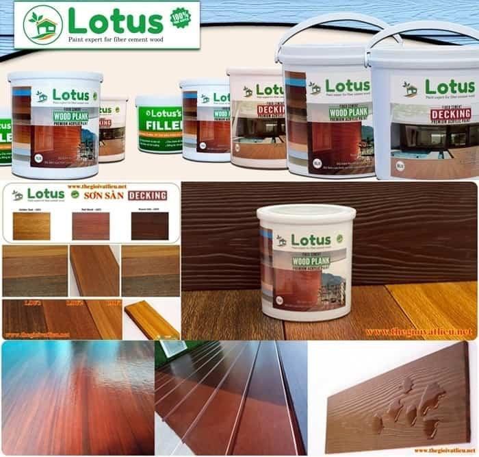 giá sơn giả gỗ lotus