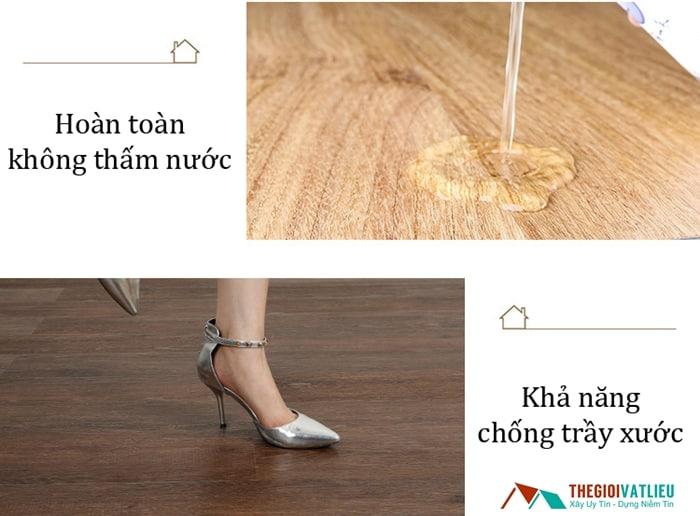 sàn nhựa giả gỗ có bền không
