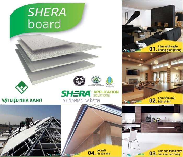 Tấm xi măng Shera board