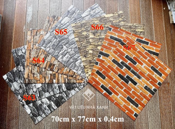 giá xốp dán tường giả đá