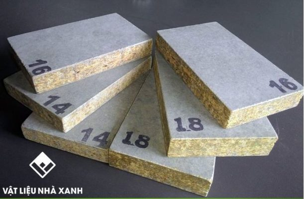 Vật liệu làm cemboard chủ yếu từ xi măng và sợi Cellulose