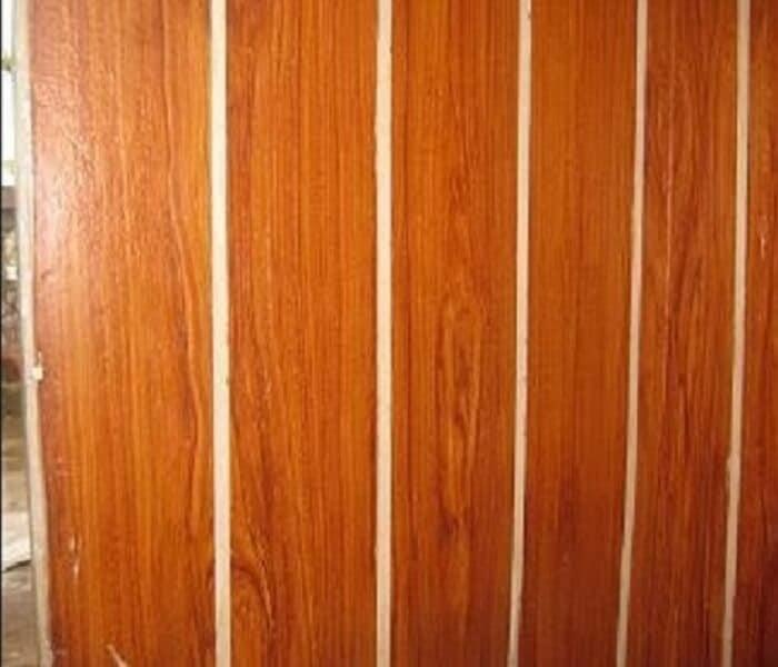 Sơn giả gỗ trên tường Lotus