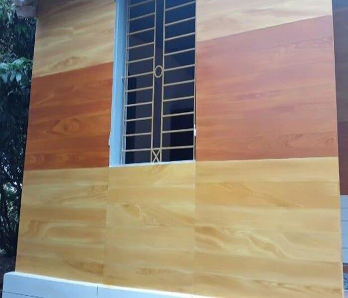 Sơn giả gỗ trên tường Lotus rất dễ thi công