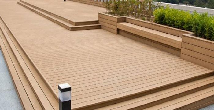 Sàn gỗ nhân tạo ngoài trời ngày càng được ưa chuộng