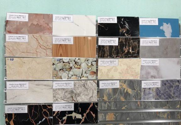 Tấm nhựa giả đá cẩm thạch giá rẻ nhưng rất đa dạng về kiểu dáng