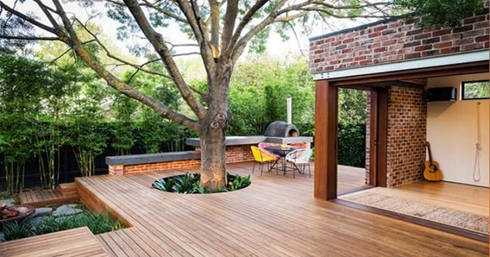 Sàn nhựa giả gỗ ngoài trời là xu hướng của kiến trúc hiện đại