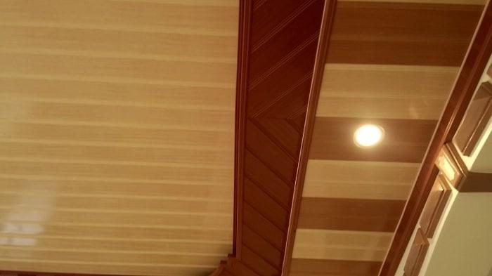 Trần giả gỗ cao cấp tại Vật Liệu Nhà Xanh