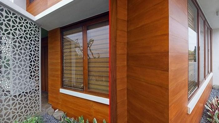 Tấm gỗ Smartwood còn được sử dụng để ốp tường