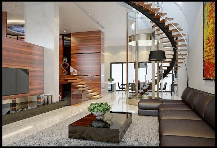 Phong cách nội thất hiện đại với các chi tiết đơn giản và đẳng cấp
