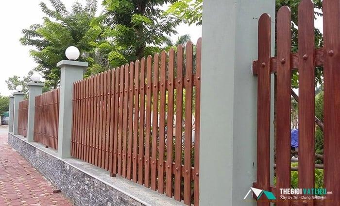 Hàng rào gỗ nhân tạo Smartwood nhập khẩu tại Vật Liệu Nhà XAnh