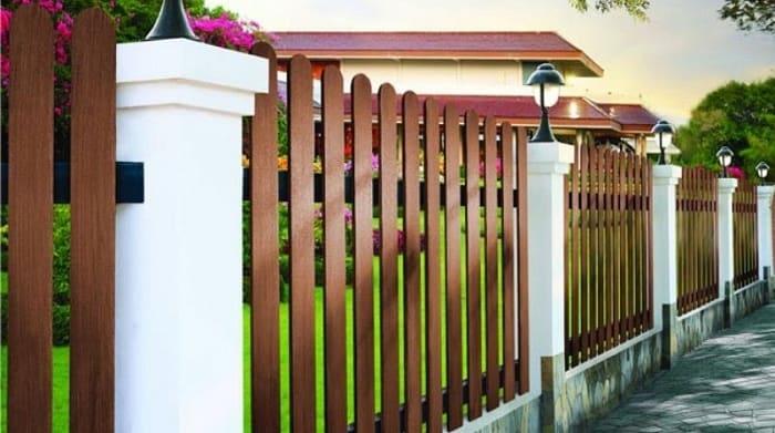 Hàng rào gỗ nhân tạo Smartwood đảm bảo an ninh cho ngôi nhà