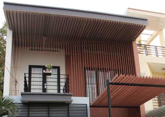 Mái che nắng bằng gỗ Smartwood cho ngôi nhà thêm xinh