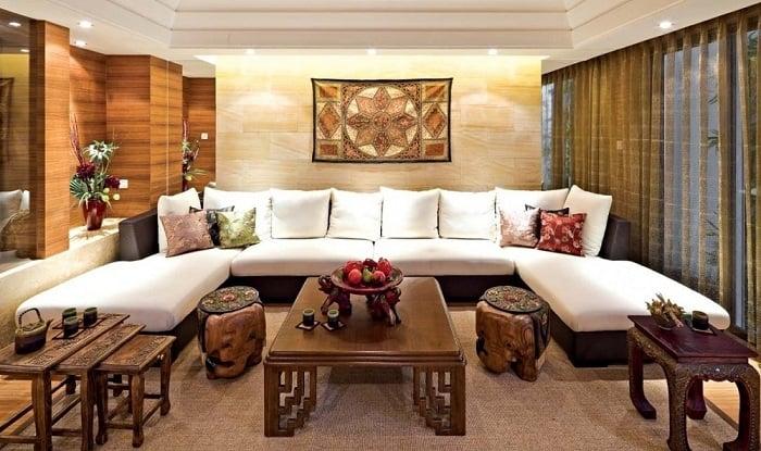 Phong cách nội thất Á Đông với tông màu trầm ấm đặc trưng