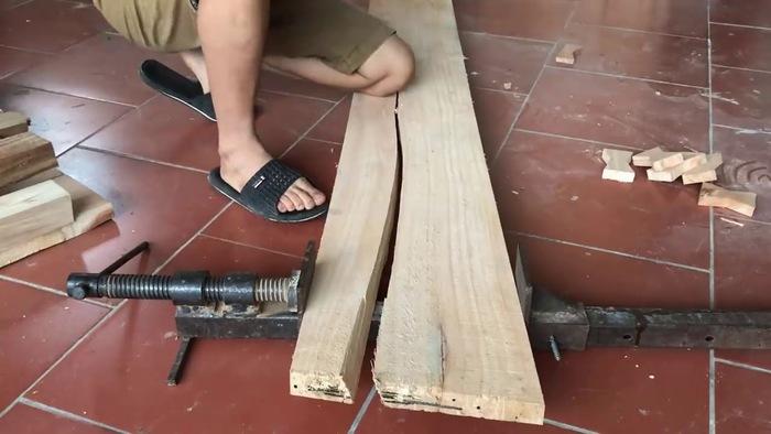 Tình trạng gỗ bị nứt khi phơi khá thường gặp