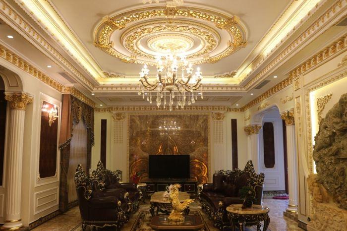 8 mẫu trần thạch cao phòng khách