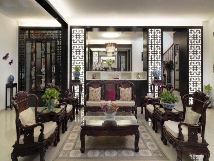8 mẫu vách ngăn phòng khách và bếp