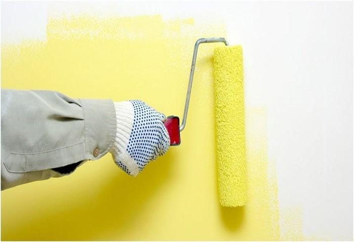Dùng sơn lót để làm nền cho hoa văn