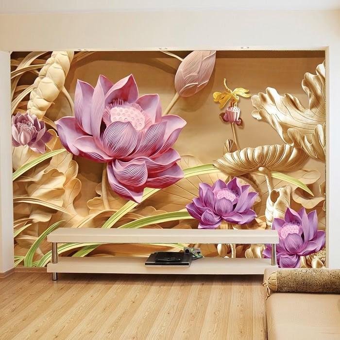 Giấy dán tường 3D có họa tiết nổi bật, nhìn chân thật như màn ảnh trên TV chứ không phải trên tường