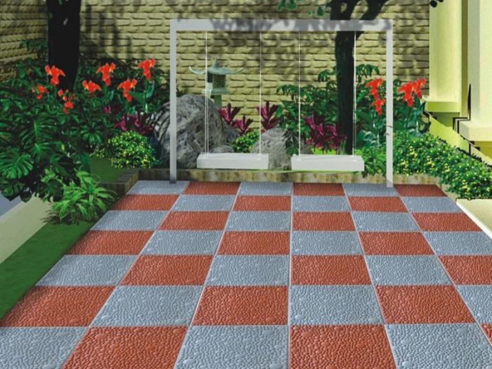 Dùng gạch chống thấm lót sân thượng cũng là một giải pháp hay