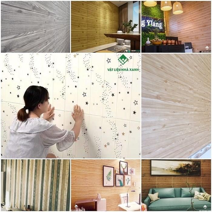 Các mẫu xốp dán tường giả gỗ được thiết kế với nhiều tông màu giúp bạn có thể thoải mái lựa chọn
