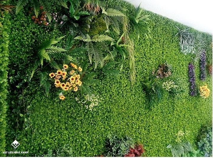 thảm cỏ nhựa trang trí tường